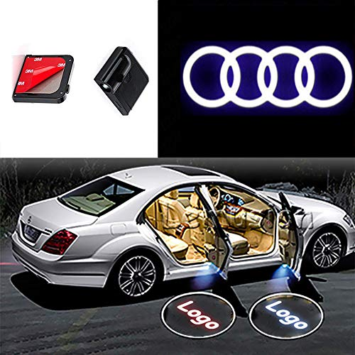 CNAutoLicht 2x Wireless Magnetic Cree LED Door Step Light Welcome Light For Audi V8 R8 Spyder TT Roadster R8 Quattro F103 Coupe Cabriolet Q2 Q3 Q5 Q7 Laser Shadow Logo Projector Lamp Courtesy Light