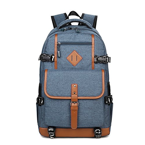 Laptop Outdoor Backpack ,Water Resistant College Travel Rucksack(Blue)