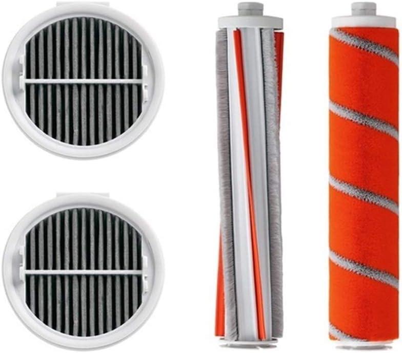 Accesorios de piezas de aspiradora En Forma For Xiaomi Roidmi F8 Paquete De Partes De Repuesto For Aspiradoras De Mano Filtro HEPA Kit De Partes Del Balanceo Cepillo Suave Pelusa De Fibra