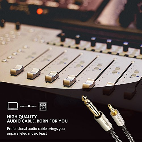 UGREEN 6.35mm 1/4'' Male to 3.5mm 1/8'' Male TRS Stereo Audio Cable with Zinc Alloy Housing and Nylon Braid Compatible for iPod, Laptop,Home Theater Devices, and Amplifiers, 10FT by UGREEN (Image #2)