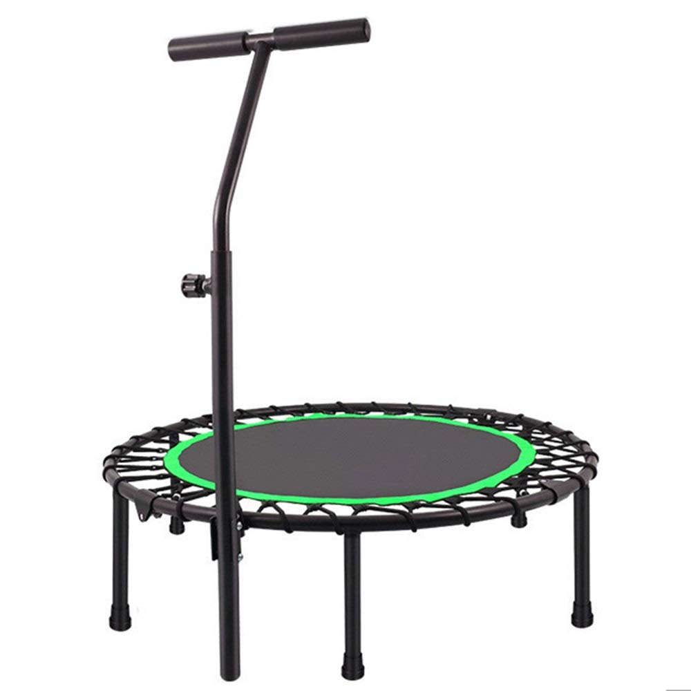 Black green 40×11inch HANSHAN Trampoline, Trampoline, Fitness Trampoline with Adjustable Handle 2 color 4 Size
