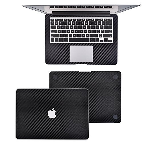 BCP 13-inch 13.3-inch Carbon Fiber Protection Decal Sticker Skin for Apple Macbook Air 13.3 Inch Model A1466 / A1369