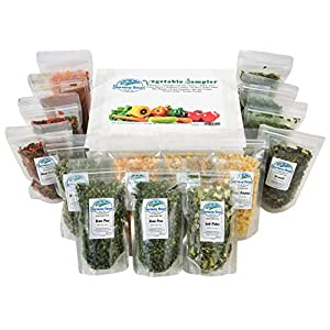 dehydrated vegetable sampler