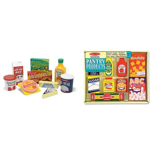 Melissa & Doug Fridge Food and Pantry Products Bundle