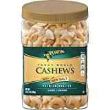 PLANTERS Fancy Whole Cashews with Sea Salt, 33 oz. Resealable Jar | Snack for Adults Made with Simple Ingredients | Good Source of Essential Nutrients | Kosher