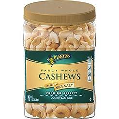 PLANTERS Fancy Whole Cashews with Sea Sa...