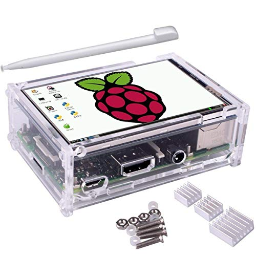 Price comparison product image 3.5 inch TFT Touch Screen + Protective Case + Heatsink+ Touch Pen Kit For Raspberry Pi 3 / 2 / 3 Model B / 3 Model B+ - Arduino Compatible SCM & DIY Kits Raspberry Pi & Orange Pi - 1 x Touch Screen LCD