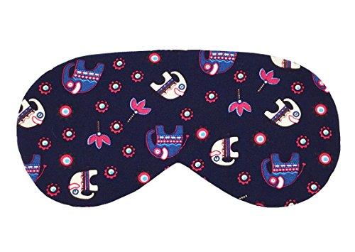 Blue Elephants with Flowers) Handmade Sleep Mask Lightweight & Comfortable Soft and Smooth Eyeshade Eye Cover Sleep Mask for Travel, Nap, Shift Works (Elephant Ears Flower)