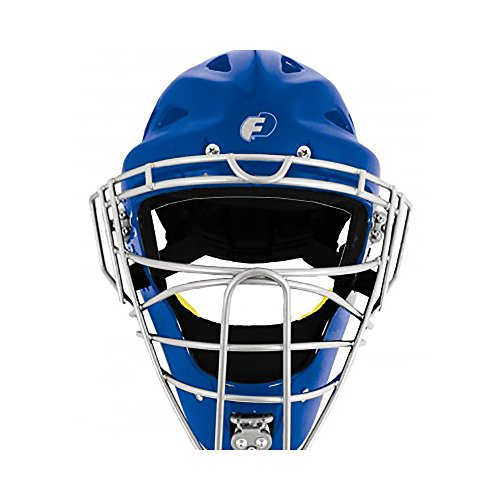 ProGear Force3 Defender Hockey Style Mask (Royal/Silver, Adult)
