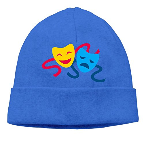 [SADCPO Drama Masks Unisex Cool Beanie Watch CapFashion Ski Cap Warm Slouchy Beanie RoyalBlue] (Masquerade Masks Near Me)