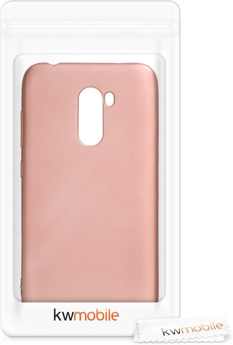 kwmobile Coque Compatible avec Xiaomi Pocophone F1 Housse Protectrice pour T/él/éphone en Silicone Miel