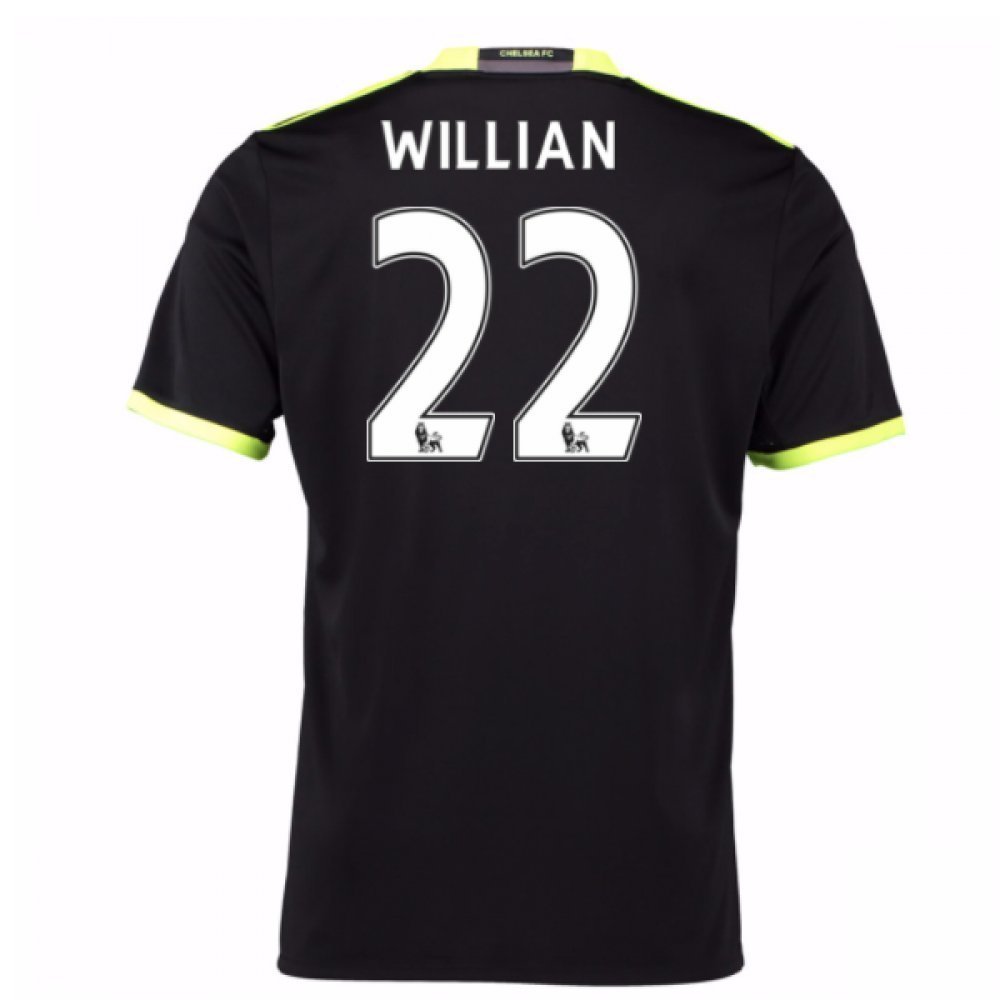 2016-17 Chelsea Away Football Soccer T-Shirt Trikot (Willian 22) - Kids