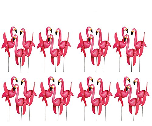 OTC - Mini Pink Flamingoes Whirly-gig twirling Wings Lawn Ornaments (4-Pack of -