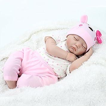 NPK 22inch 55 cm muñecas reborn bebe real Niña suave silicona realistas niño baratos Dormir baby