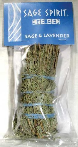 "1 X Sage and Lavender - 5"" Smudge Stick - Sage Spirit"
