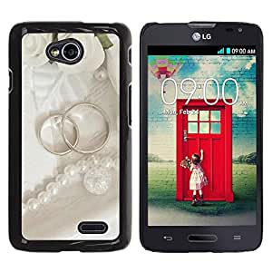 LECELL -- Funda protectora / Cubierta / Piel For LG Optimus L70 / LS620 / D325 / MS323 -- Couple Ring --