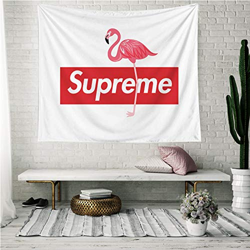 Whim-Wham Greater Flamingo SUP Home Décor Tapestry Supreme Pink Flamingo Hippie Art Wall Decor Tapestry Hanging for Bedroom Living Room Dorm Picnic College. ()