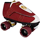 VNLA Royalty Kids/Adult Jam Skates | Quad Roller Skates for Women and Men from Vanilla - Mens/Ladies Womens Indoor Speed Skate Rollerskates for Men Women Boys and Girls (Red, White, Gold - Kids 3)