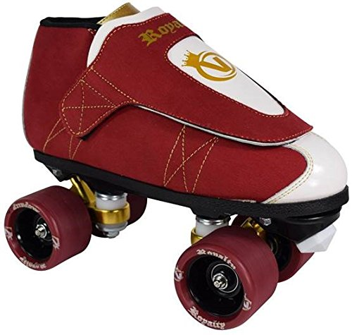 VNLA Royalty Kids/Adult Jam Skates | Quad Roller Skates from Vanilla - Mens/Ladies Womens Indoor Speed Skate Rollerskates for Men Women Boys and Girls (Red, White, and Gold - Mens 9 / Womens 10) ()