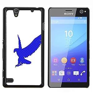 """Be-Star Único Patrón Plástico Duro Fundas Cover Cubre Hard Case Cover Para Sony Xperia C4 E5303 E5306 E5353 ( Eagle Hawk Logo Blanco Azul Limpio"""" )"""