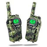 Walkie Talkies for Kids, iksee Toys for 4-13 Year Old Boys Girls, 22 Chanel 6Km Long Range Exploration Kit for Kids Outdoor Camping, Hunting, Expedition, Adventure (Camo Green, 1 Pair)