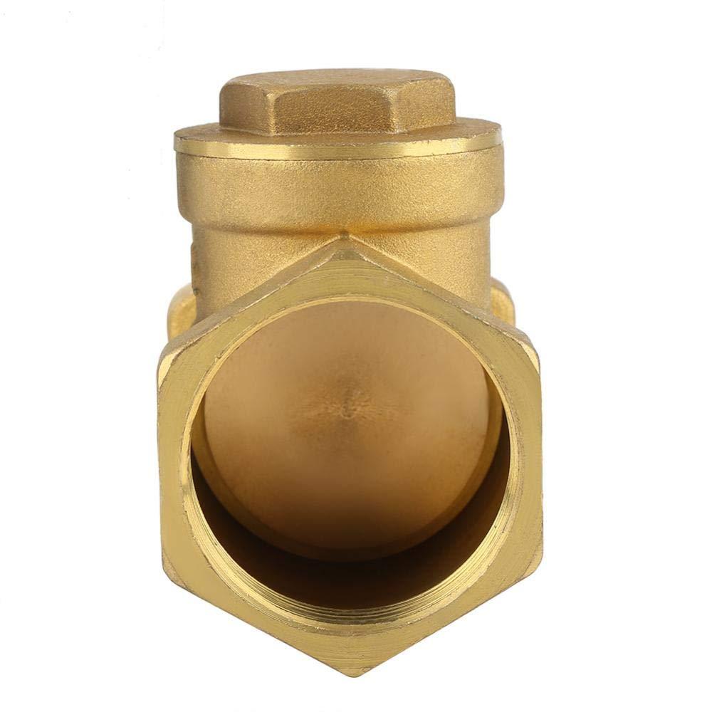 BSP 1-1//4 DN32 Female Thread Brass Non-Return Swing TypeCheck Valve 232PSI Prevent Water Backflow