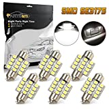 honda civic 02 accessories - Partsam 6pcs White LED 12 SMD Interior Dome Map Lights Car Accessories Lamps 31mm Festoon DE3175