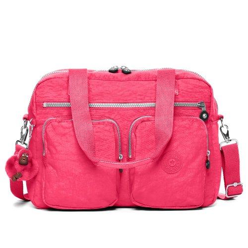 Sherpa Tote (Kipling Women's Sherpa Handbag Nylon Top-Handle Tote, Vibrant Pink, One Size)
