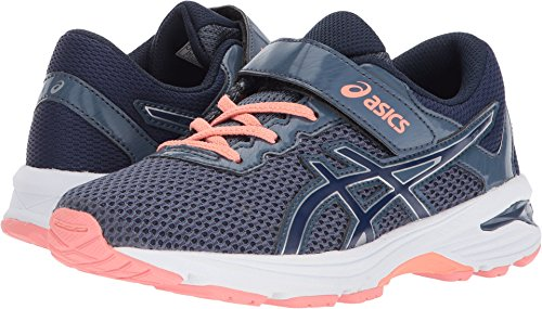 Price comparison product image ASICS Kid's GT-1000 6 PS Running Shoe - C741N.5649 (Blue/Indg Blue/Pink - 1.5)