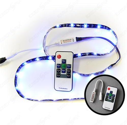 Ruban à Led Smd 5050 Rgb 450 Led 30 Led Par Mètre Adaptateur Secteur Télécommande étanche Ip65 Multicolore 15 M Kit Complet Prêt à être Branché