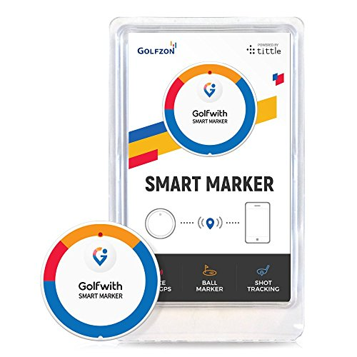 Golfwith Smart Voice GPS Golf ball Marker for IOS and Android