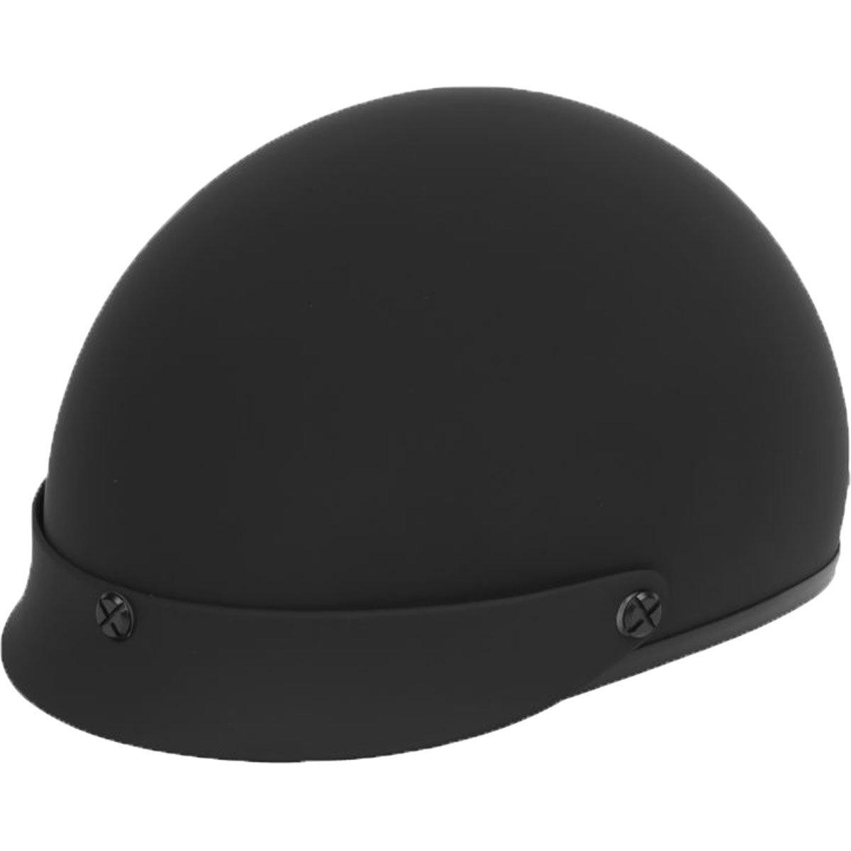 Black Brand Cheater.50 Half Street Motorcycle Helmets - Matte Black/White / Medium