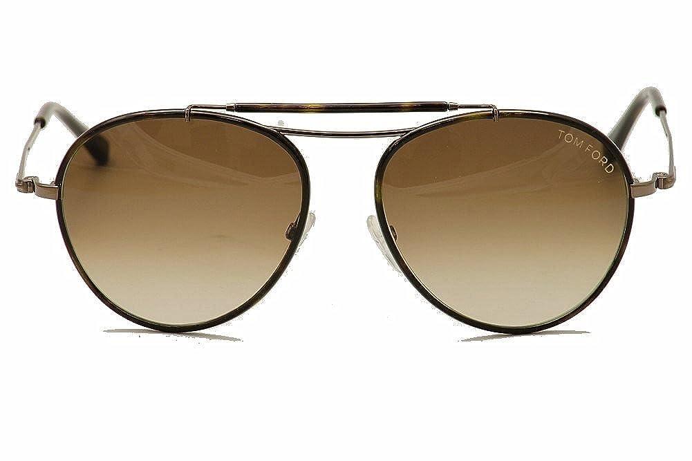 c9c42a6e994 Amazon.com  Tom Ford 247s 10f Nicketin Havana Tom Ford Aviator Sunglasses   Clothing