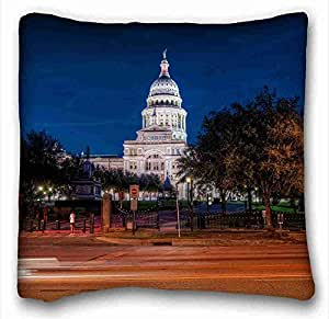 Soft Pillow Case Cover City Custom Cotton & Polyester Soft Rectangle Pillow Case Cover 16x16 inches (One Side) suitable for Full-bed