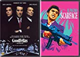 Tony Rags to Riches Montana in Scarface Al Pacino + Goodfellas Robert De Niro DVD Mob Movie 2 Pack Bundle