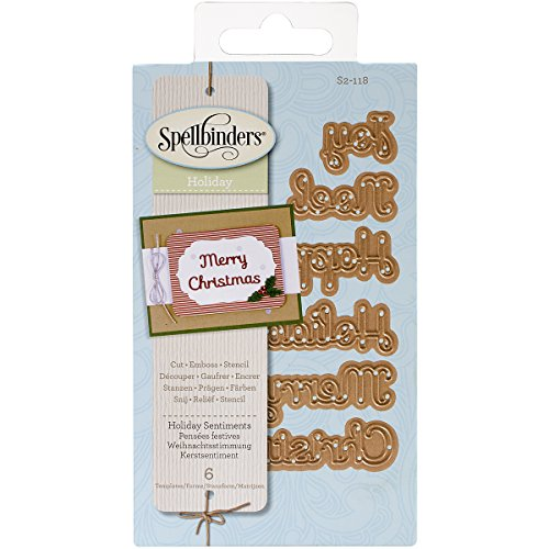 Spellbinders Shapeabilities Die D-Lites, Holiday Sentiments - - Spellbinders Happy Holidays