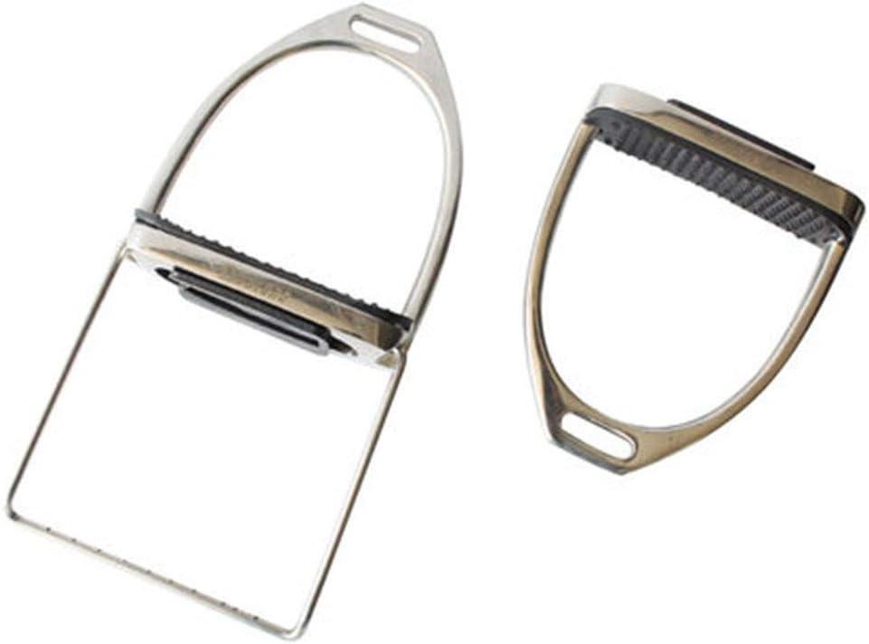 Los estribos de seguridad Estribos de ratón de acero inoxidable estribos de seguridad puede subirse y bajarse de una silla plegable Accesorios para una silla ( Color : Photo color , Size : One size )
