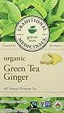Traditional Medicinals Organic Green Tea With Ginger, 20 tea bags