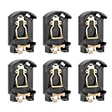 uxcell® 6PCS Brown Plastic Housing CR2032 Button Cell Battery Socket Holder Case
