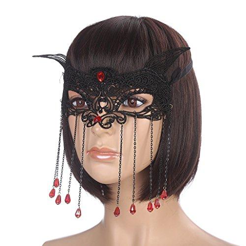 Pirate Choker (SL Black Victorian Gothic Lace Headband Choker Necklace Bracelet Mask Earrings Anklets Costume Set)