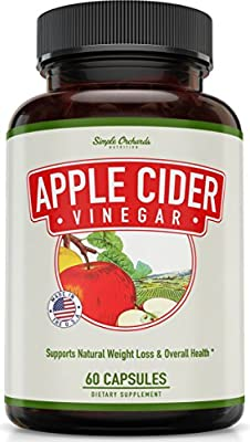 Apple Cider Vinegar Capsules for Weight Loss - Extra Strength - Best Appetite Suppressant for Women, Thermogenic Fat Burner, Energy Booster, Perfect for All Diets and Detox Cleanse