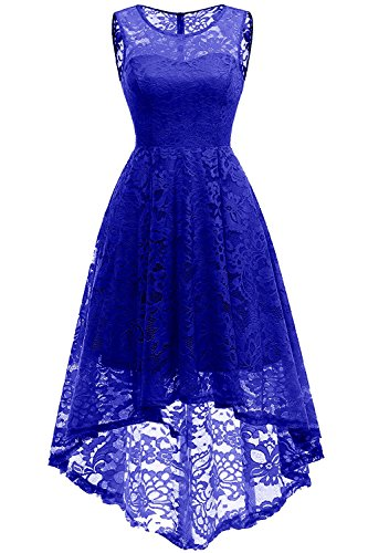 Dressupgirls Women Floral Lace High Low Bridesmaid Dress