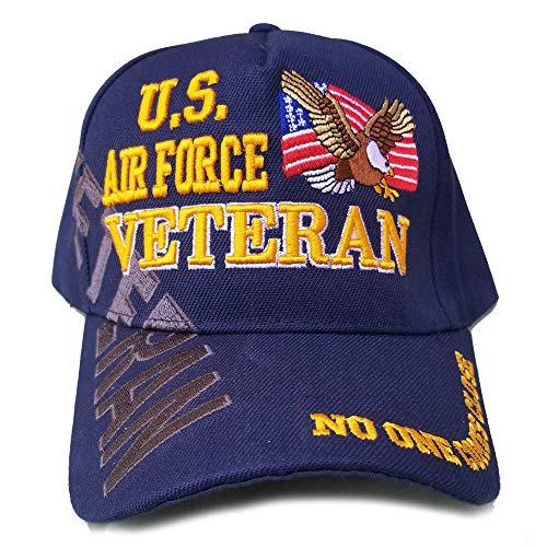 US Air Force Veteran Hat Blue w/Flag Eagle Logo