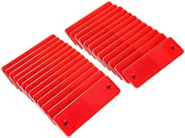 ATP Universal Trailer Car Reflective Warning Plate Adhesive Reflector with Screw Holes 25 Pairs Red and White
