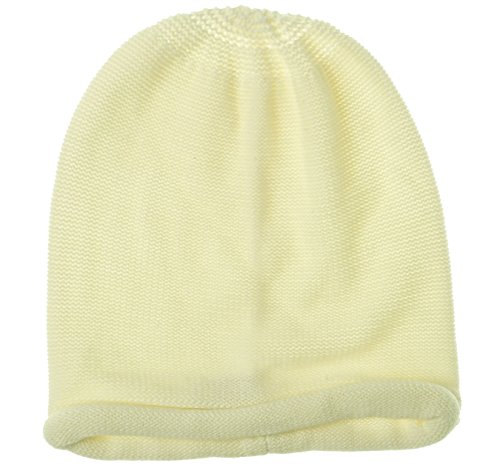 Cotton Blend Beanie - Collection Eighteen Women's Rolled Knit Cotton Blend Beanie (OS, White)