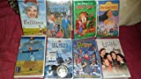 Lot Of 8 VHS Tapes Walt Disney Robin Hood,A Christmas Carol,Monkey's Go Home,Pollyanna,Free Willy,The Sound Of Music,Pocahontas,And Little Women