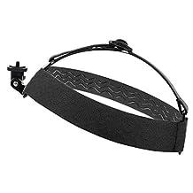 Black, Fully Adjustable Head Strap Mount With Screw Adaptor Compatible with the SJCAM SJ1000 | SJ4000 | SJ5000 | SJ4000+ | SJ5000x | SJ5000 Plus | SJ5000x Elite Action Camera - by DURAGADGET