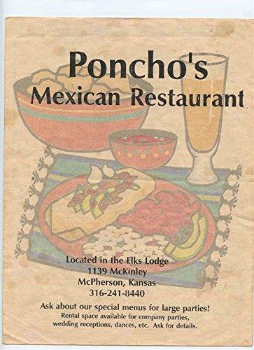 Amazon Com Poncho S Mexican Restaurant Menu Elks Lodge