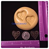 Steampunk Heart Fondant Mold Chocolate Gumpaste Isomalt Candy Soap Resin Clay