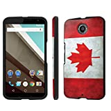 nexus 6 canada - NakedShield Nexus 6 (Flag Canada) Total Hard Armor LifeStyle Phone Case